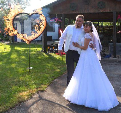 Feuerherz zur Hochzeit