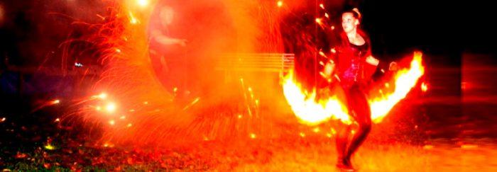 Feuershow Hochzeit mit Angelina