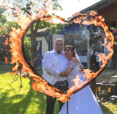 Freuershow Hochzeit mit Feuerherz