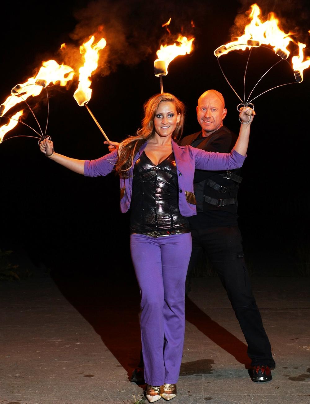 Team Feuershow Hochzeit